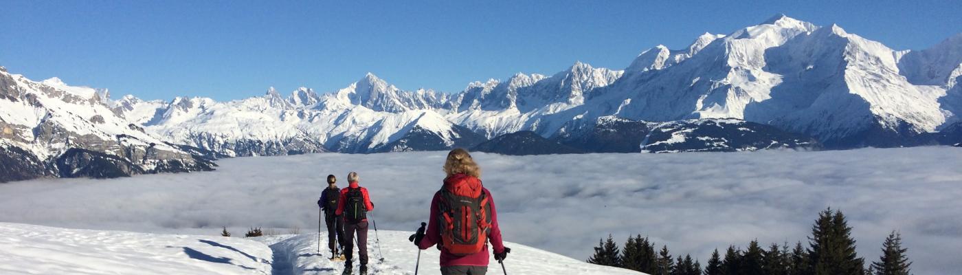 Mer de nuages un matin d'hiver face au Mont Blanc